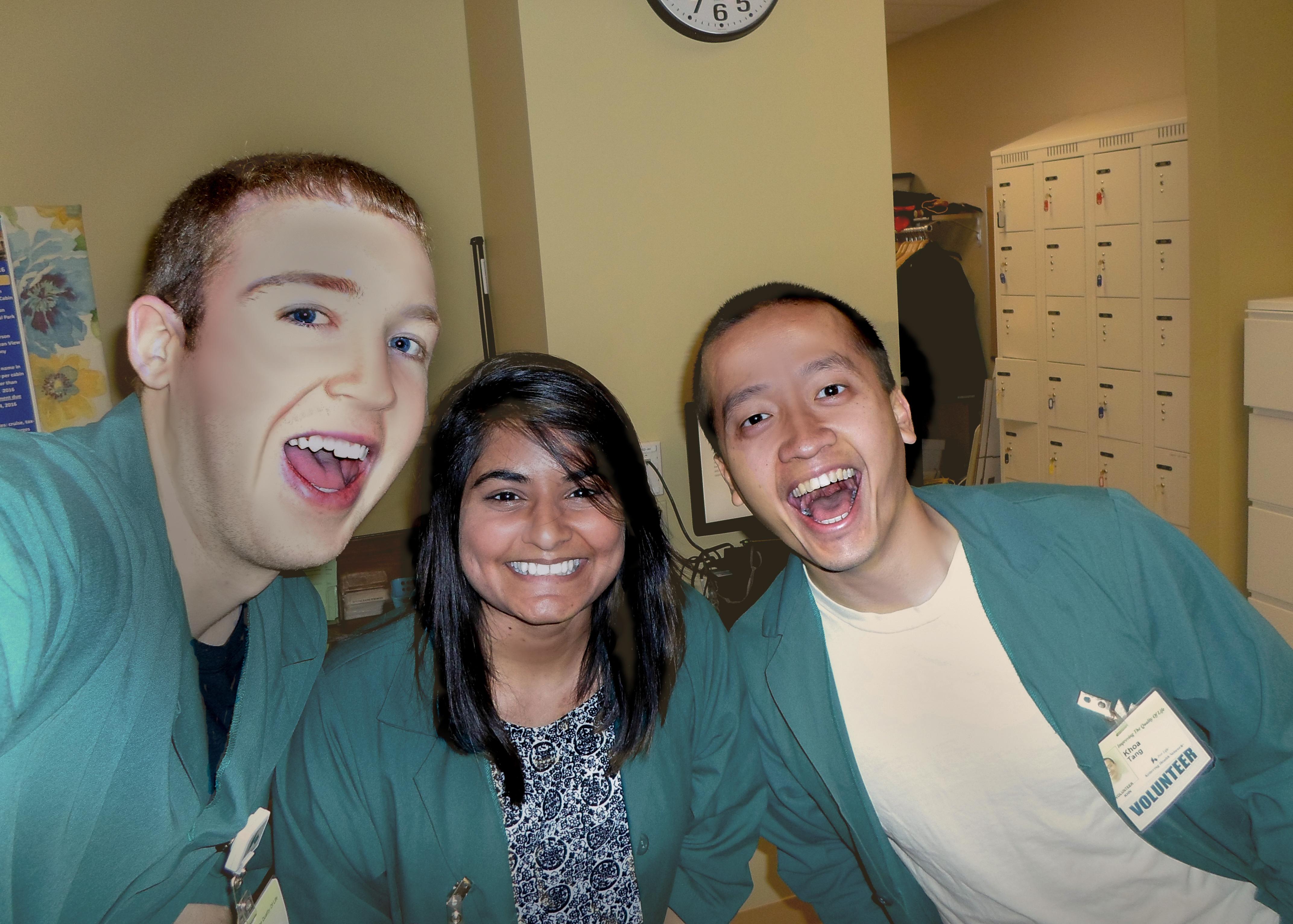 Image of Pre Health students volunteering