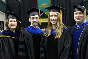 photo of psychology students at commencement