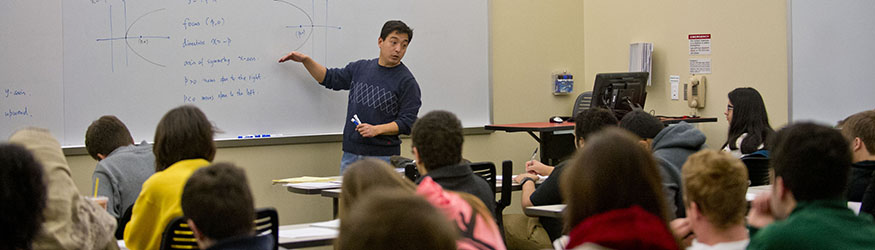 photo of a professor teaching students