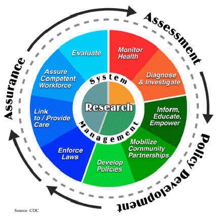 Public Health System Management Wheel
