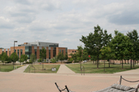 photo of hamilton hall plaza
