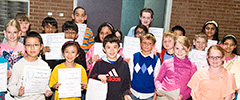 photo of students at the math contest