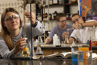 photo of students working in a lab