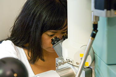 photo of a student in a lab  Microbiology     The College of Science   Mathematics   Wright State University