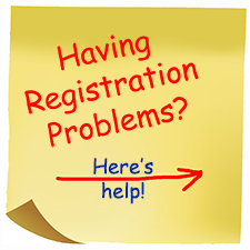 Having registration problems? Click links to the right