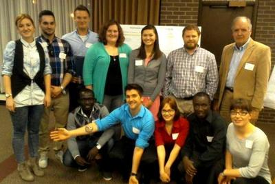 Wright State Chemistry Poster Presenters at Dayton Chapter ACS Meeting